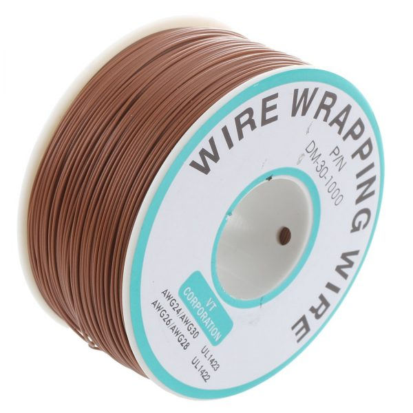 Bobina AWG30 MARRON 250m Cable Hilo WRAPPING