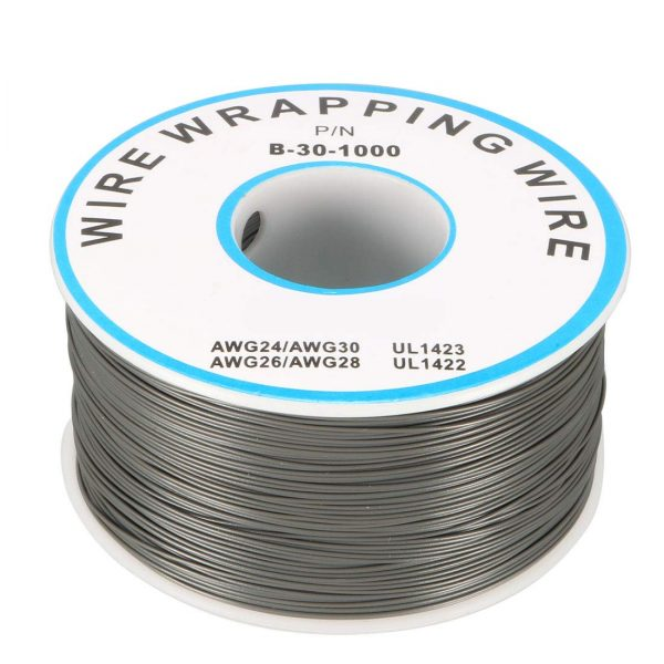 Bobina AWG30 GRIS 250m Cable Hilo WRAPPING