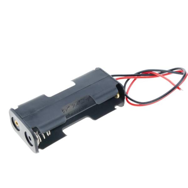 Portapilas 2x AA 3v 1+1 con cable