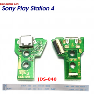 JDS-040 CONECTOR CARGA MANDO PLAY STATION 4 PLACA CORRIENTE MICRO USB PS4 + FLEX 12 pines