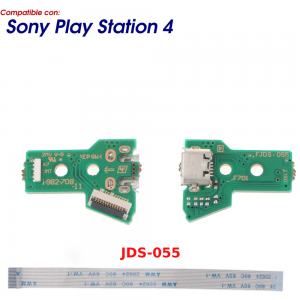 JDS-055 JDS-050 CONECTOR CARGA MANDO PLAY STATION 4 PLACA CORRIENTE MICRO USB PS4 + FLEX 12 pines