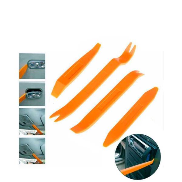 Kit de 4 herramientas para desmontar el salpicadero radio coche panel frontal
