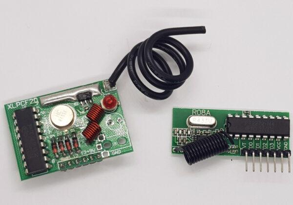Módulo RF Emisor y Receptor 433 Mhz - 2 Km - con Codificador y Decodificador