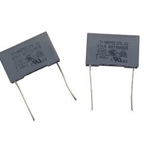 2x Condensador de seguridad MKP X2 0.47uF 474K AC 275V 25mm