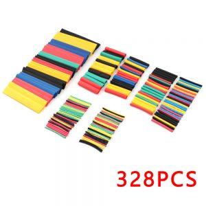 328 Pcs Surtido Tubo Termoretractil de Colores Aislante para cables 8 medidas