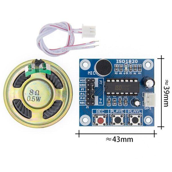 ISD1820 Modulo grabador y reproductor de voz con altavoz 3,3v