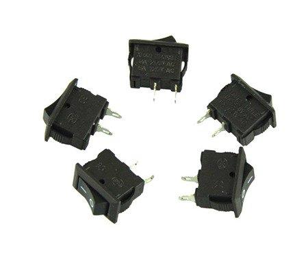 5x AC 250 V Interruptor de encendido / apagado 3A 2 pines ENCENDIDO / APAGADO E / S SPST Snap