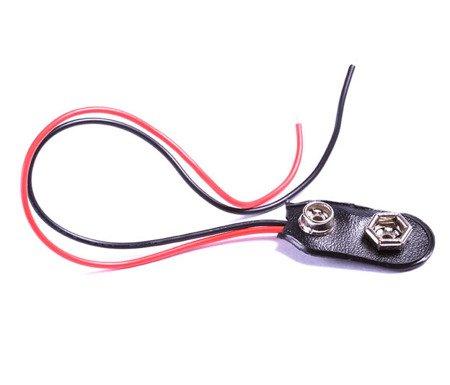 Conexión para batería de 9V 6F22 CON CABLE