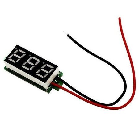 Mini Voltimetro 2,5 -32v DC 2 hilos Display Digital ROJO
