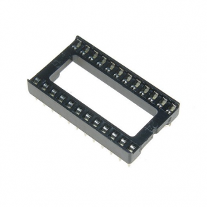 10x Zocalo integrado 24 PINs DIP 24 Socket doble contacto 0,6 ""