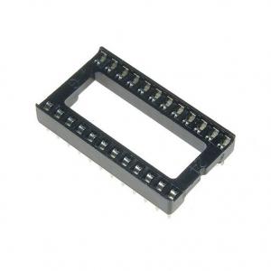"10x Zocalo integrado 24 PINs DIP 24 Socket doble contacto 0,6 """