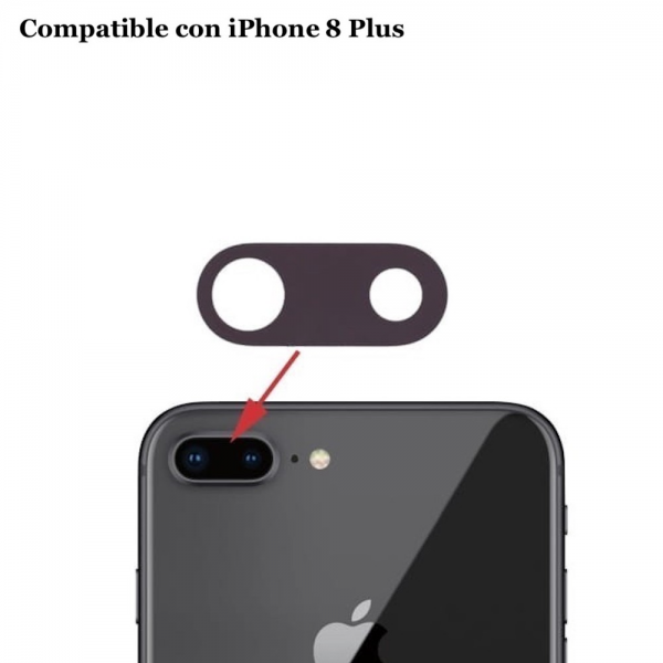 Cristal cámara trasera iPhone 8 Plus