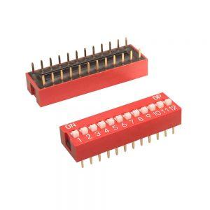 3x Interruptor Dip Switch 12 posiciones 12p ON OFF 2.54mm