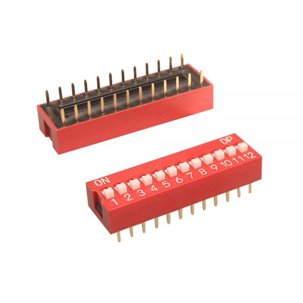 3x Interruptor Dip Switch 12 posiciones 12p ON OFF 2.54mm