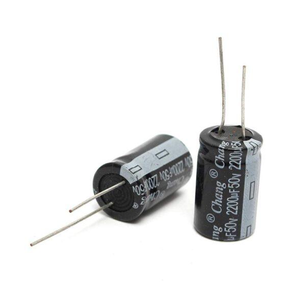 2x Condensador electrolitico 2200uF 50v 105º C 16x25mm