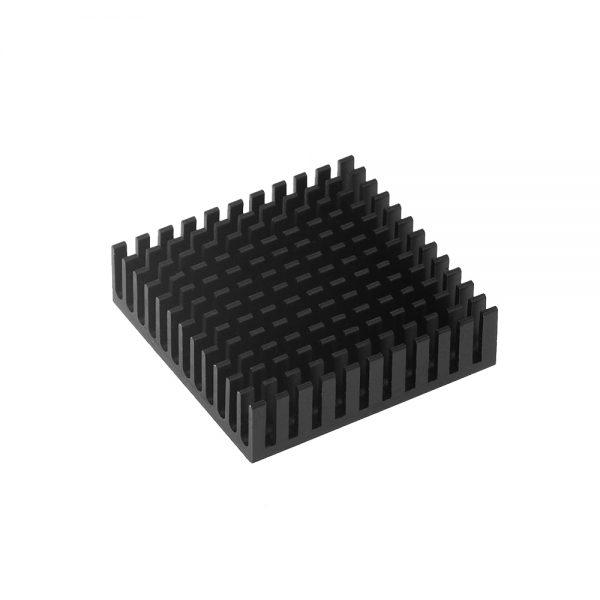 AMORTIGUADOR VIBRACIONES 53.8*53.8 mm Motor paso a paso Nema 17 + DISIPADOR NEGRO