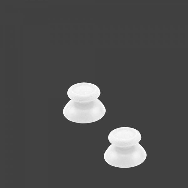 2x JOYSTICK PS4 PLAYSTATION 4 ANALOGICO MANDO THUMB STICK BOTONES R3 L3 BLANCO