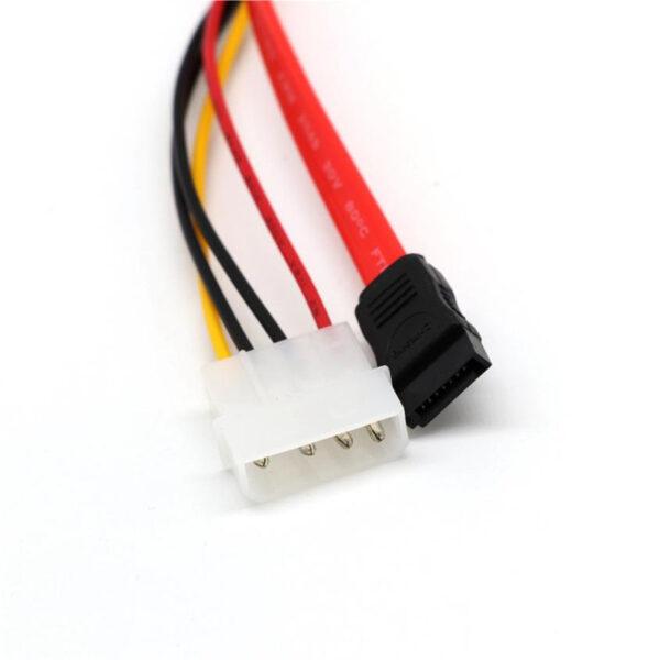 Cable Alimentacion SATA 15+7 Pin 22 pin Corriente/Datos a 4 pin Molex ATA IDE