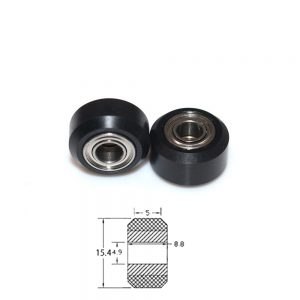 POM Rueda de engranaje de polea pequeña para impresora 3D perfil aluminio V2020