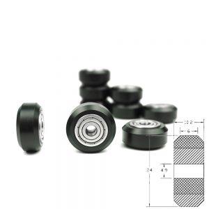 Polea Rueda tipo POM con rodamiento 625zz para perfil aluminio V2020