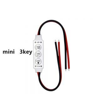 Controlador atenuador brillo Tira Led Monocolor 3 Teclas 12v 5050 3528 Dimmer