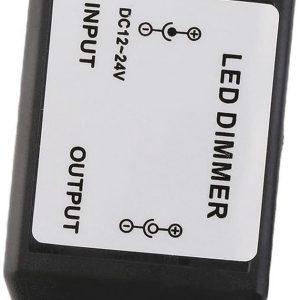 Controlador Dimmer atenuador intensidad Tira LED 12-24VDC SMD 5050 5630 3528 2835