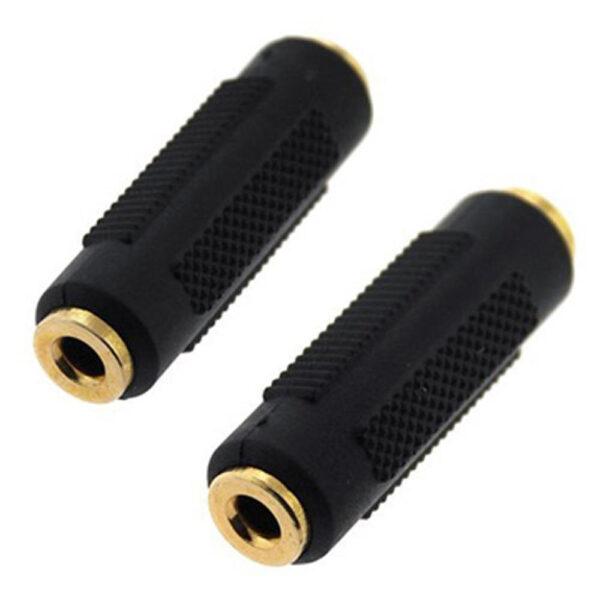 Adaptador Acoplador JACK Doble Hembra Prolongador Audio 3.5 mm Estereo Chapado oro