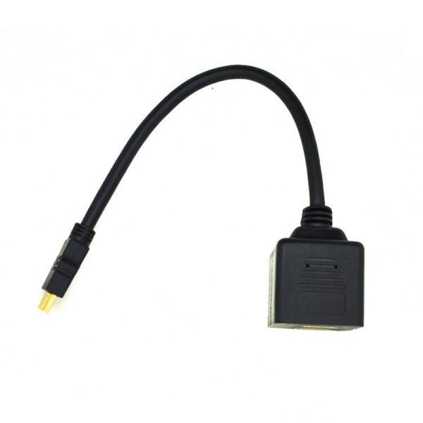CABLE SPLITTER ADAPTADOR DIVISOR HDMI MACHO A DOBLE HDMI HEMBRA 30 CM
