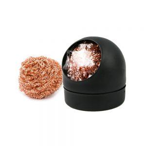 Limpiador para puntas de soldador con soporte Bola de latón Cleaning ball