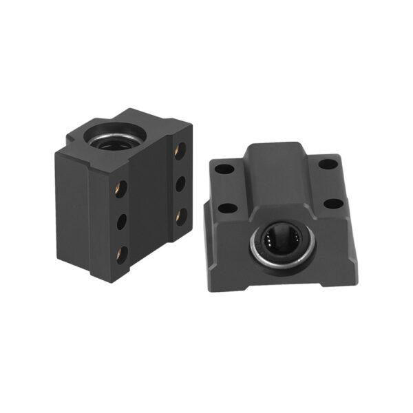 SC8UU Cojinete Soporte 8mm Lineal Rail Eje Rodamiento LM8UU CNC Impresora 3D NEGRO