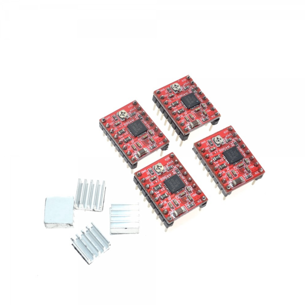 KIT CNC SHIELD Board v3 + 4x A4988 Stepstick Arduino Stepper Motor 3D Impresora