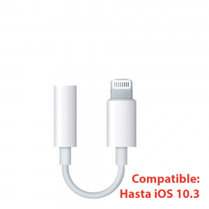 Adaptador Compatible con Apple Lightning a Jack 3.5mm iPhone iPad