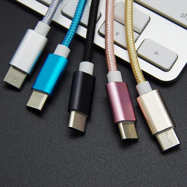 ADAPTADOR NYLON TRENZADO USB-C TIPO C 3.1 A JACK HEMBRA 3.5MM COLOR ROSA