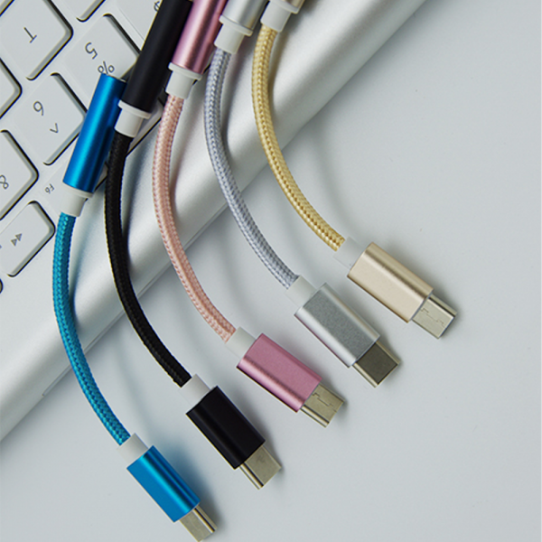 ADAPTADOR NYLON TRENZADO USB-C TIPO C 3.1 A JACK HEMBRA 3.5MM COLOR ORO