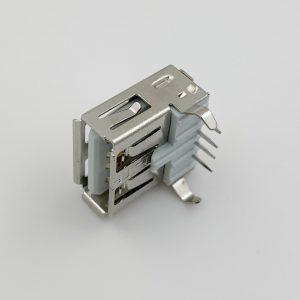 10x CONECTOR USB hembra tipo A 90º grados para PCB