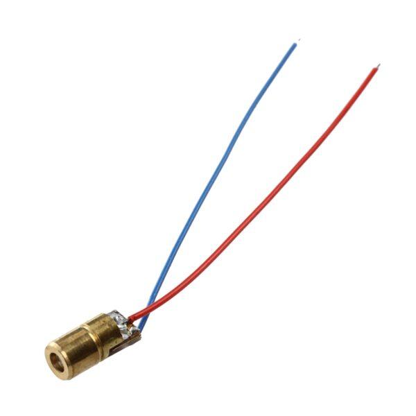 2x Diodo Laser ROJO 650nm 5mW 5v 6mm