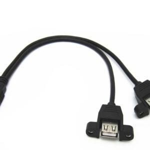 CABLE ALARGADOR USB 30CM MACHO A DOBLE HEMBRA
