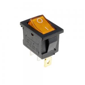 Interruptor ON OFF con luz 220v NARANJA rectangular cuadrado SPST 6A 220v