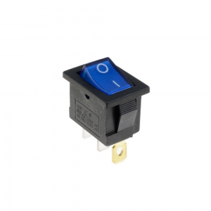 Interruptor ON OFF con luz 220v AZUL rectangular cuadrado SPST 6A 220v