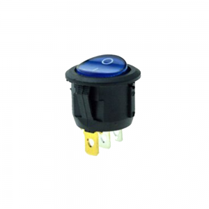 Interruptor ON OFF con luz AZUL Redondo 20mm SPST 220v 6A