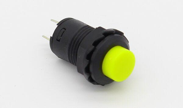 2x Interruptor AMARILLO redondo 12 mm empotrable 2 posiciones