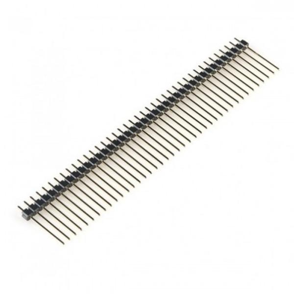 5x Tira 40 Pines 2,54 mm 19 mm largo pines