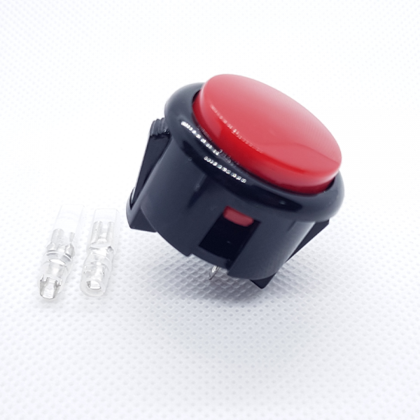 Pulsador Arcade 30mm Rojo faston Jamma Push button Bartop Raspberry