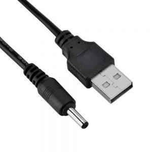 CABLE USB CARGADOR TABLET ANDROID Negro MP3 3.5MM 5V 2A ALIMENTACIÓN DC