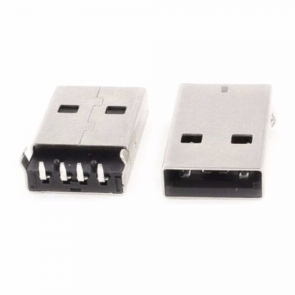 2x conector usb MACHO tipo a 90º Pcb Socket
