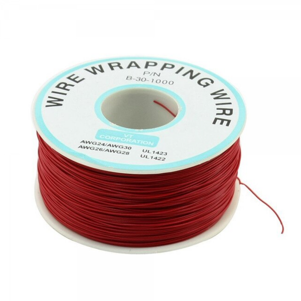 Bobina AWG30 ROJO 250m Cable Hilo WRAPPING