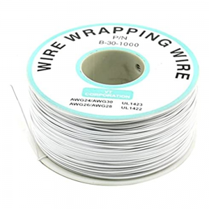 Bobina AWG30 BLANCO 250m Cable Hilo WRAPPING