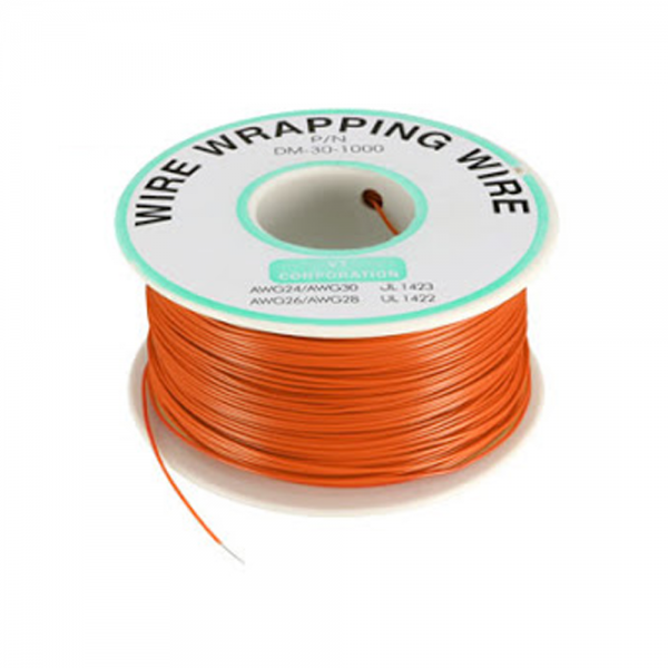 Bobina AWG30 NARANJA 250m Cable Hilo WRAPPING