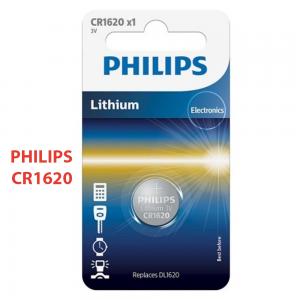 1x Pila de boton PHILIPS bateria original Litio CR1620 3V