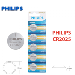 1x Pila de boton PHILIPS bateria original Litio CR2025 3V
